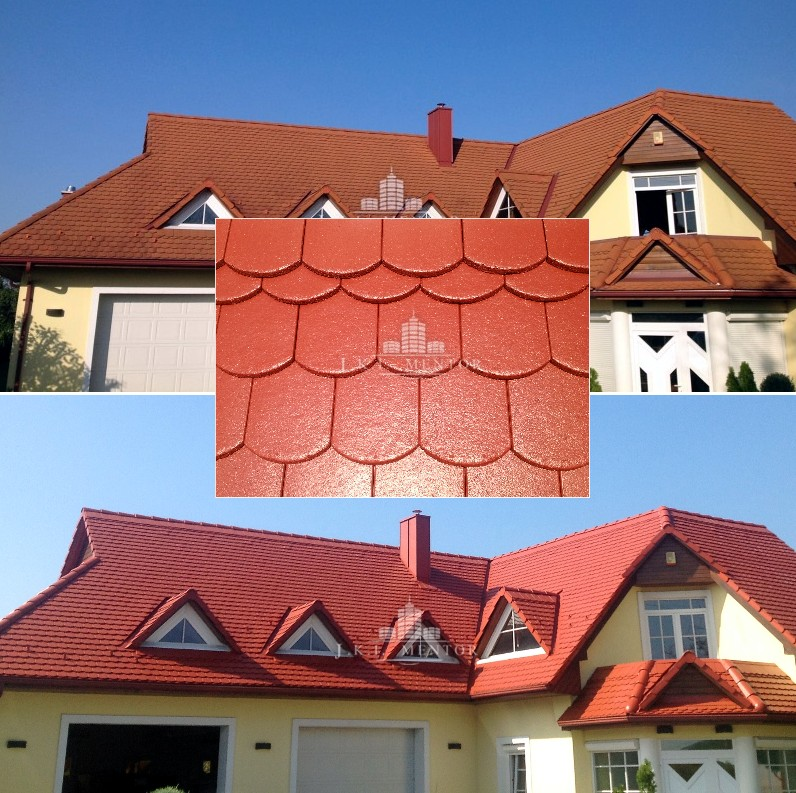 Tetőcserép festés ár